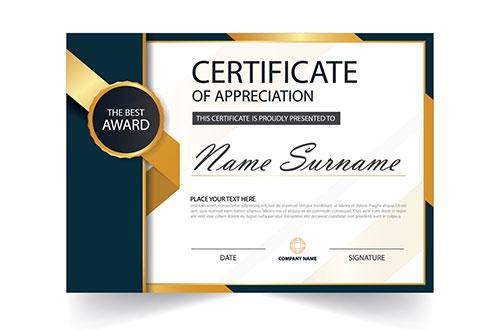 certificate design award certificate design appreciation